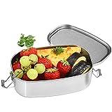 Brotdose Edelstahl, Dailyart 550ml Metall Brotdose Klein Lunchbox Edelstahl, Praktische Brotzeitbox...