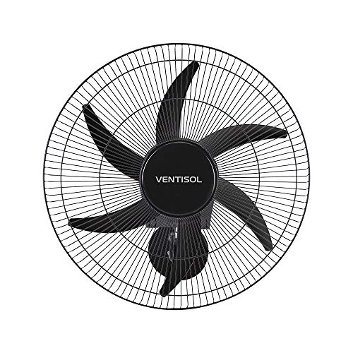 Ventilador de parede Ventisol Turbo 6 Steel Osc, 6 pás, 50cm, 200w - Bivolt