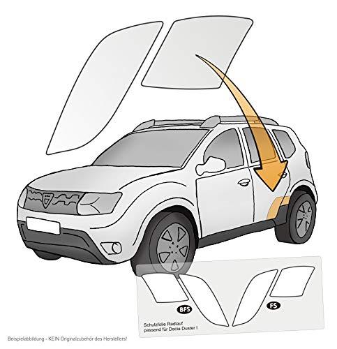 Lackschutzshop - Lackschutzfolie Lackschutz für Radlauf hinten (4er Set) transparent 150µm, passgenau vorgeschnitten und passend für Modell siehe Beschreibung