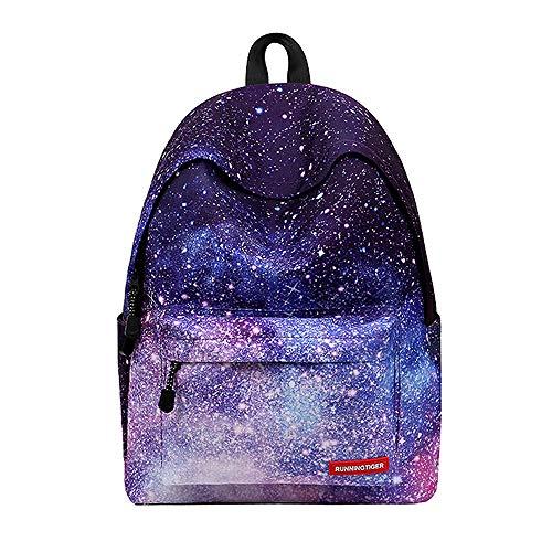 WAWJ Schulranzen Beiläufig Schulrucksack Mädchen Teenager Galaxy Print Damen Backpack Rucksäcke College Schulrucksack Daypacks