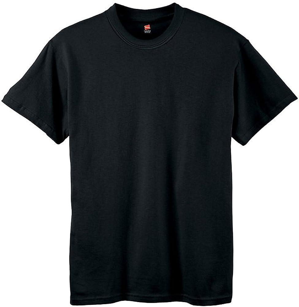 Hanes Youth 5.2 oz. ComfortSoft Cotton T-Shirt, Large, BLACK