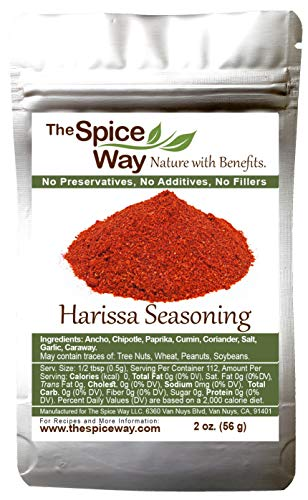 The Spice Way Harissa Seasoning - A Spicy Hot Spice Blend to Create Paste and Sauce 2 oz