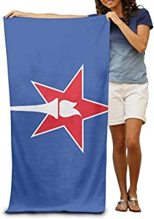 Indiana Flag Adult Beach Towels Fast/Quick Dry Machine Washable Lightweight Absorbent Plush Multipurpose Use Quality Towels for Swim,Pool,Beach,Gym,Camping,Yoga