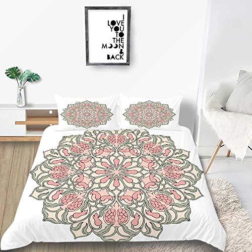 Prinbag Modernos Juegos de Cama de Bohemia, Breve Estampado de Flores, Funda nórdica, Textil para el hogar, Suave para niñas 200x200cm