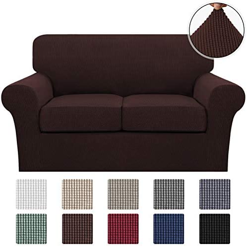 Best Turquoize3 Piece Stretch Sofa Covers Loveseat for 2 Cushion Couch Covers Slipcovers Including Base