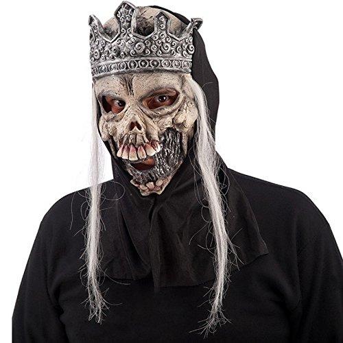 Masque Roi Squelette Couronne - Deguisement Halloween Accessoire - 193