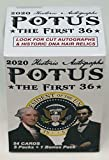 Every 2020 HA POTUS, the First 36 blaster box will contain (5) 10-card packs and a bonus insert 4-card pack