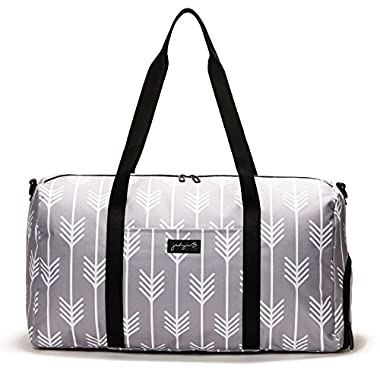 Jadyn B 22  Women's Weekender Duffel Bag with Shoe Pocket, Arrow Tails Gray