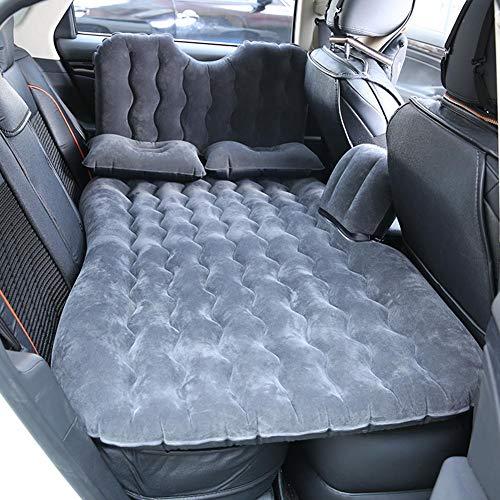 Colchón hinchable para coche, colchón hinchable de aire, cama hinchable con cojines para camping, viaje, Negro