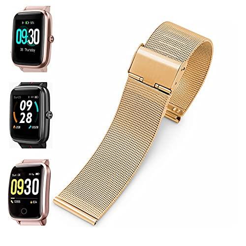 Weayege ID205L Correa de reloj inteligente de malla de acero inoxidable para reloj inteligente ID205L, ID205G ID205 ID205U ID205S