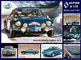 plaque métal 30x20 cm renault alpine a110 berlinette