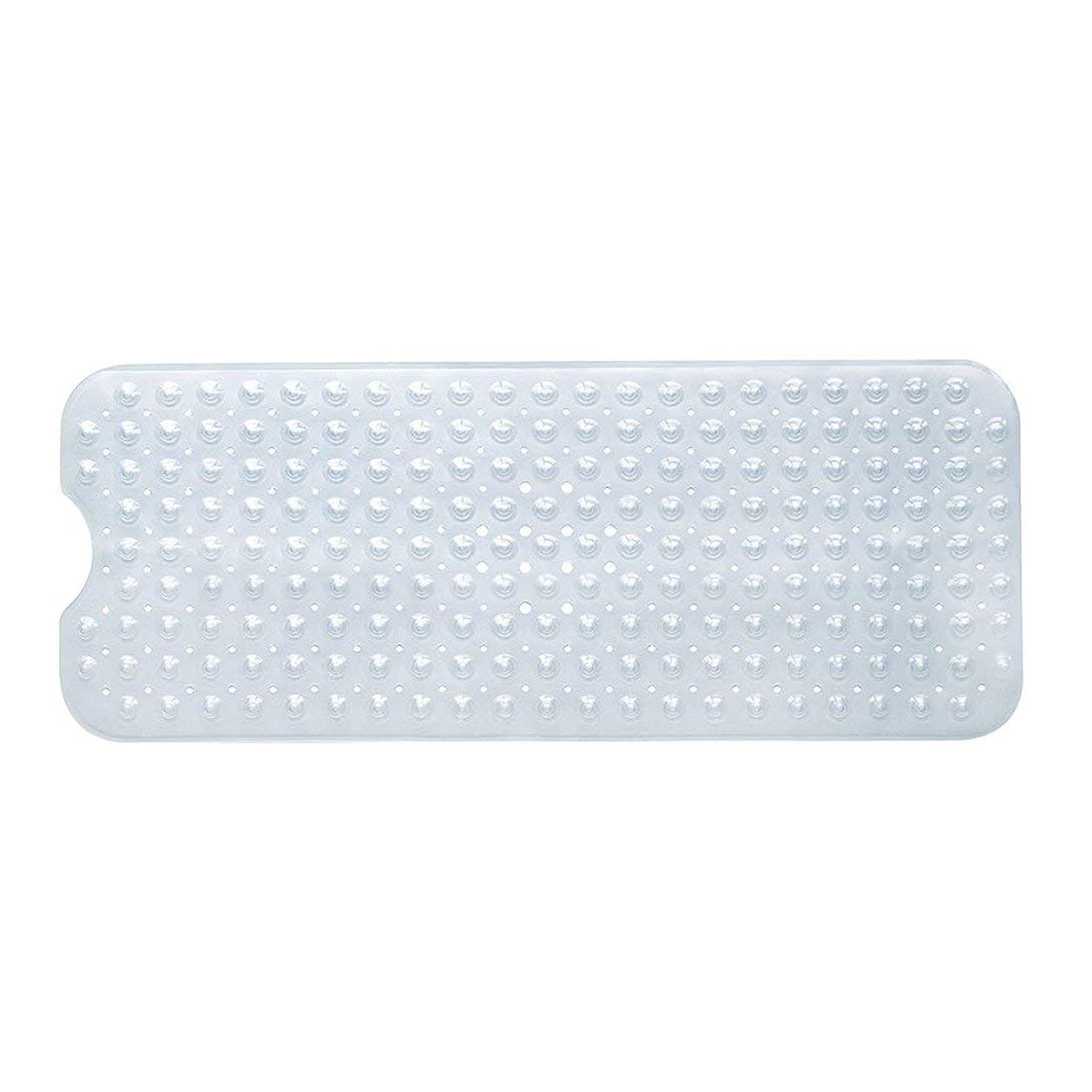 一生クレデンシャル緊張するSwiftgood エクストラロングバスタブマットカビ抵抗性滑り止めバスマット洗濯機用浴室用洗えるPVCシャワーマット15.7