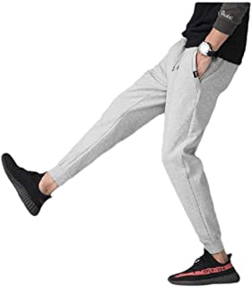 Mogogo Men's Athletic Vogue Drawstring with Pocket Solid Colored Running Pants