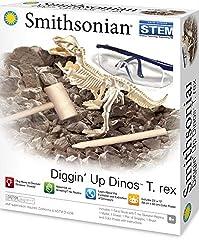 1. Smithsonian Diggin' Up Dinosaurs T-Rex Plastic Skeleton Set