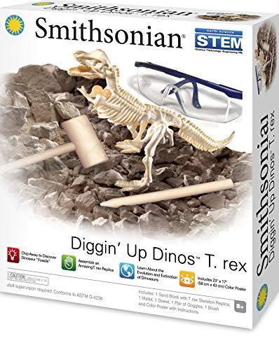 Smithsonian Diggin' Up Dinosaurs T-Rex Plastic Skeleton Set