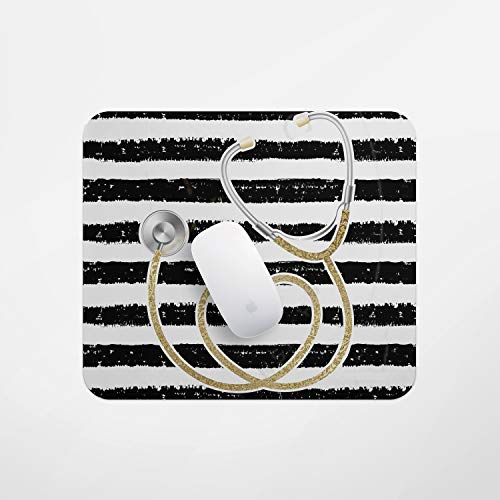 Computer Mouse pad, Laptop Gaming Mouse pad Office Computer Mouse pad Anti-Slip Mouse pad Medical Assistant Stethoscope