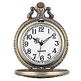 HGJINFANF Mano de Obra Elegante y Simple, Exquisita, Buenos Reloj de Bolsillo Instrumento Musical diseño Retro Bronce Recuerdo Colgante Colgante Reloj Fob Cadena joyería Reloj