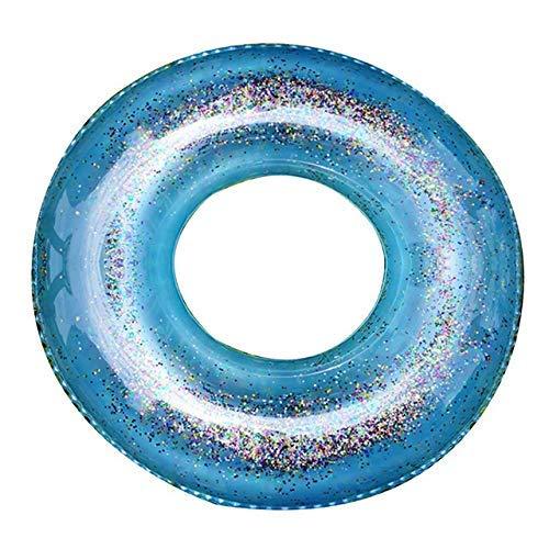 WMYATING Anillo de natación, boya salvavidas, inflable deportes acuáticos de dibujos animados anime llavero inflable anillo de natación playa círculo flotador agua piscina partido (color: azul 70 cm)