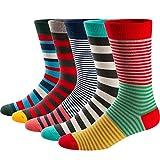 Ueither Calcetines Estampados Hombre Casuales Divertidos Calcetines altos de Colores con Algodón Fino (42-48, Color 14)
