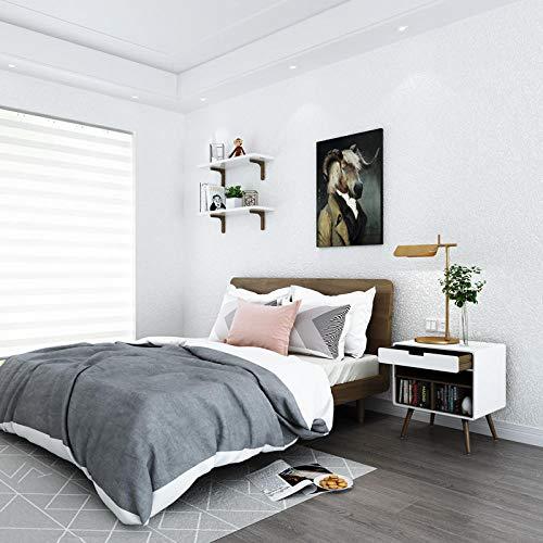 Nórdico color puro papel de grano blanco puro sala de estar dormitorio...