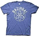 Ripple Junction Big Bang Theory Bazinga Collegiate with Linear Atom Adult T-Shirt Medium Heather Royal