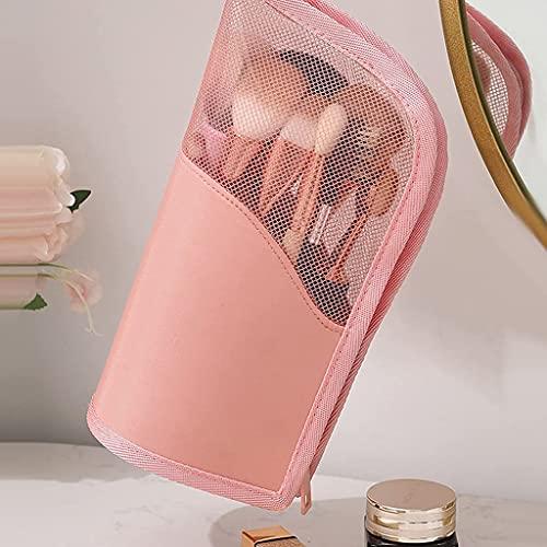 Sac de voyage pour pinceaux cosmétiques Sac de rangement pour porte-pinceau cosmétique portable (Rose) Meilleur choix