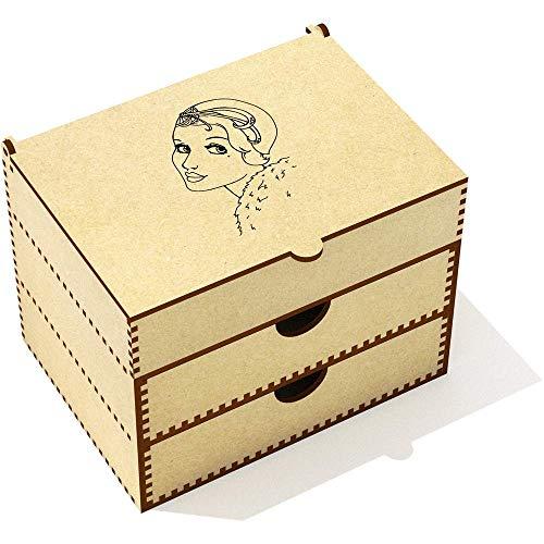 Azeeda 'Art Déco Portrait' Boîte de Maquillage (VC00008924)