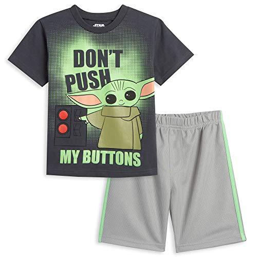 STAR WARS Baby Yoda Toddler Boys T-Shirt & Shorts Set Charcoal 2T
