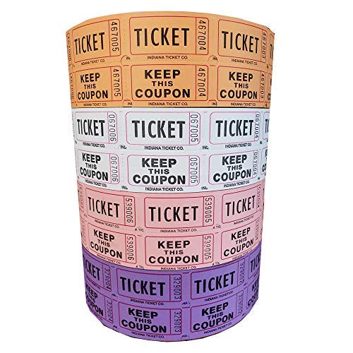 white 50 50 raffle tickets - 3