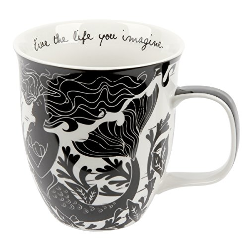 Karma Gifts Black and White Mug, 1 EA, Mermaid