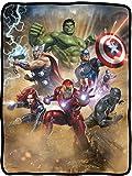 Seven Times Six Marvel Avengers Defenders of Earth Blanket 46' X 60' Flannel Fleece Throw
