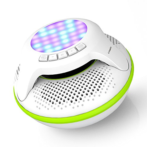 COWIN IPX7 Swimmer Floating Waterproof Bluetooth Speakers Portable Wireless Shower Speaker with 10W Deep Bass and Colorful LED Light for Swimming Pool Party Travel Home