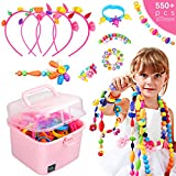 Ucradle Pop Beads, 550pcs Niños Bricolaje Joyería Snap Pop Beads DIY...