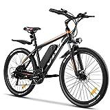 Vivi E Bike Mountainbike Ebike Herren 26 Zoll Elektrofahrrad Elektrisches Fahrrad mit 36V 10.4 Lithium-Batterie und Shimano 21 (26 Zoll Gelb)