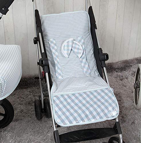 Babyline Summer - Colchoneta ligera para silla de paseo, color azul ⭐