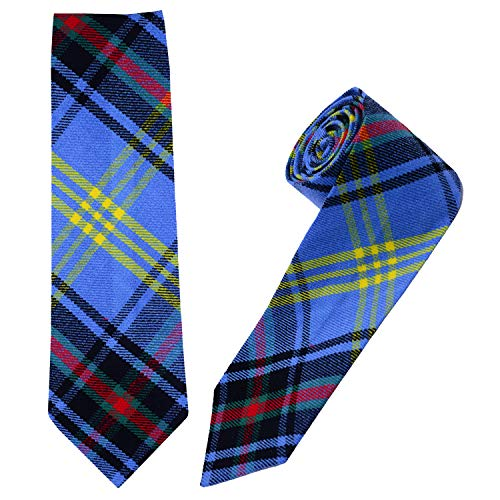 I Luv Ltd Gents Neck Tie Bell of The Borders Modern Tartan Lightweight Scottish Clan Tie