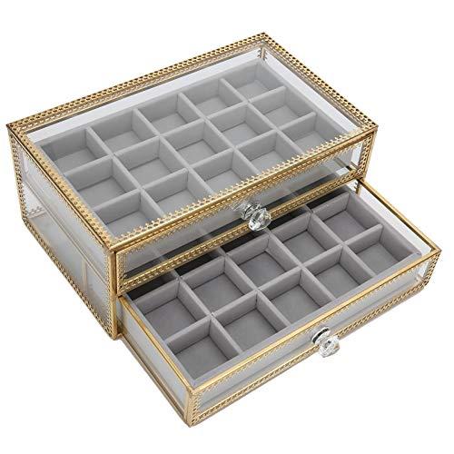 Caja de almacenamiento de arte de uñas Caja de almacenamiento de puntas de arte de uñas Caja de almacenamiento de uñas falsas Caja de almacenamiento de accesorios de uñas Caja de joyería de