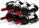 Mango Steam 6 Bottle Counter-top Wine Rack, (Black)