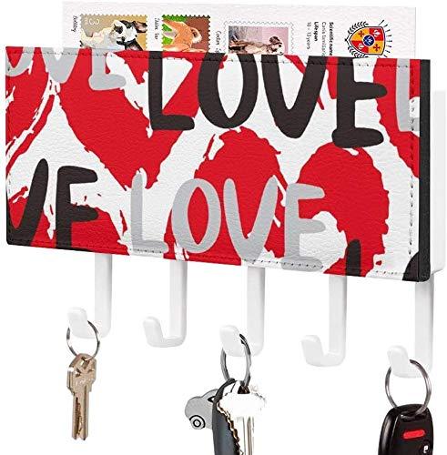 Gancho para llaves montado en la pared, clasificador de correo, organizador de soporte para llaves de correo para el día de San Valentín, decoración del hogar para la habitación de entrada, estante d