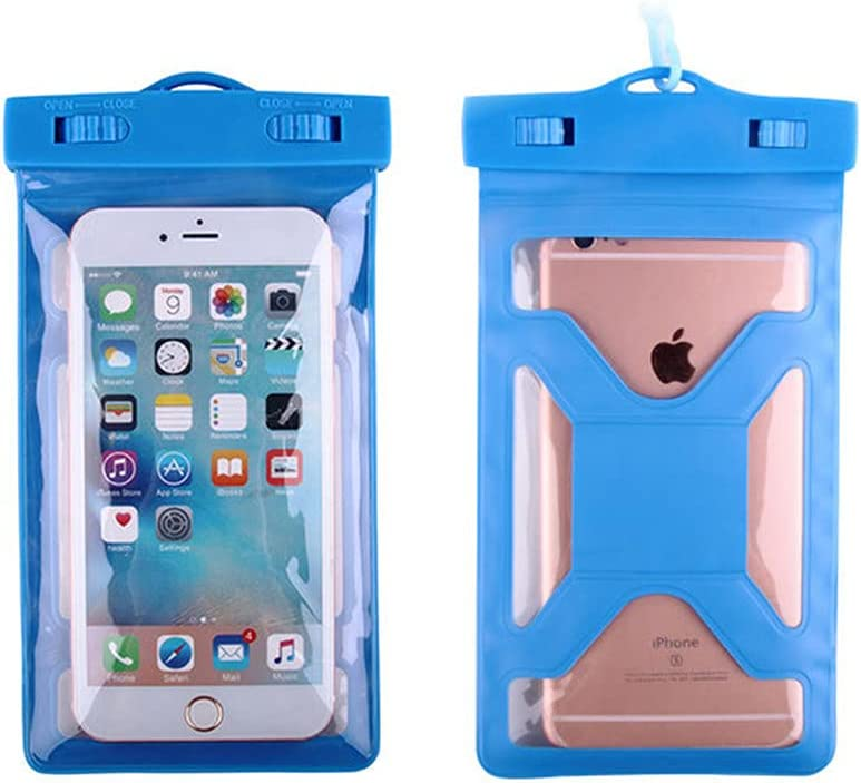Gefag Mobile Phone Dry Bag with Arm Strap and Tether, Swimming Mobile Phone Waterproof Bag, Supporting Mobile Phone with Maximum Size of 7 Inches (Blue)