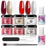 Modelones Dip Powder Nail Kit 6 Colors, 12Pcs...