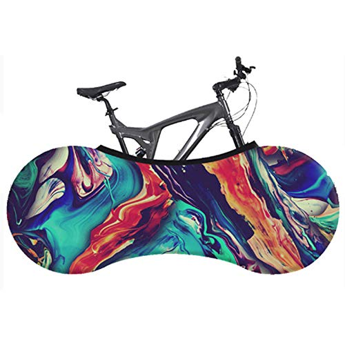 ZYQDRZ Bicycle Protective Cover, Tire Cover, Mountain Bike Dustproof, Sun Protection, Tire Protective Cover, Tear-Resistant Jersey, Durable,B