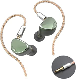 BQEYZ Spring 2 in Ear Monitor Stereo HiFi Headphones BA Dynamic Driver Piezoelectric Headset Detachable Earphone Cable with Carrying Case