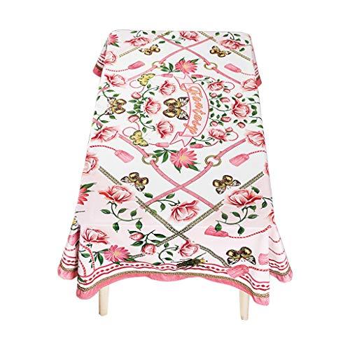 Couverture européenne de nappe antipoussière de nappe rurale européenne de nappe de fleur rurale pour la décoration de table de décoration de fêtes d'intérieur ou extérieures, utilisation quotidienne