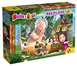 Lisciani Giochi- Masha Puzzle Maxifloor 24-Una Buona Giornata Bambini, Multicolore, 86092
