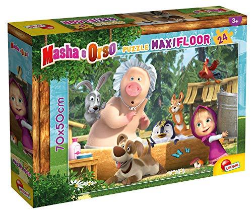 Lisciani 86092 - Maxi Puzzle de Masha y el Oso de 24 piezas - Puzle para niños a partir de 3 años