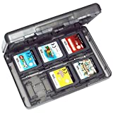 Assecure 3DS game card holder storage case (Black) 24 in 1 box for 3DS, 3DS X.