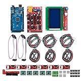 KIKYO Kit Stampante 3D, RAMPS 1.4 + per Controller Mega 2560 CH340 + 12864 + Parti della Scheda Chip A4988 Adatte per Reprap