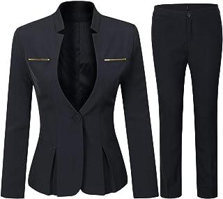 Women's Elegant Business 2 Piece Office Lady Suit Set...