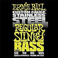ERNIE BALL 2842/Stainless Regular Slinky Bass ベース弦×2セット